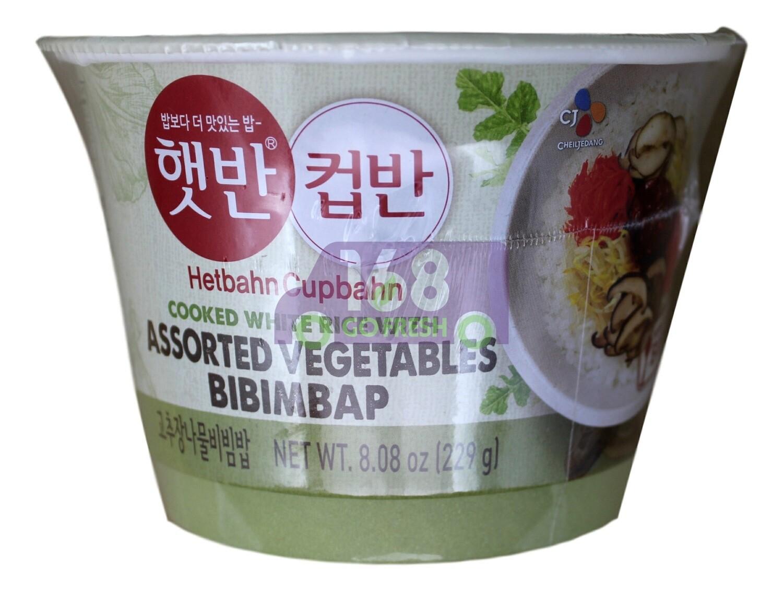 CJ COOKED WHITE RICE WITH ASSORTED VEGETABLES BIBMBAP 韩国CJ 混合蔬菜即食米饭(229G)