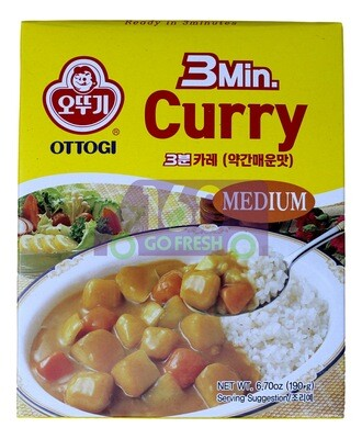 OTTOGI INSTANT CURRY/ MEDIUM 韩国OTTOGI  即食咖喱拌饭酱 '中'辣(190G)