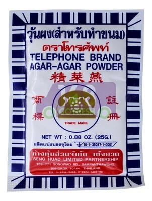 TELEPHONE  AGAR-AGAR POWDER 电话牌 燕菜精 (洋菜粉)(5.6OZ)
