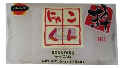 J-BASKET KONNYAKU(YAM CAKE) 日本 蒟蒻 魔芋糕 白(9OZ)