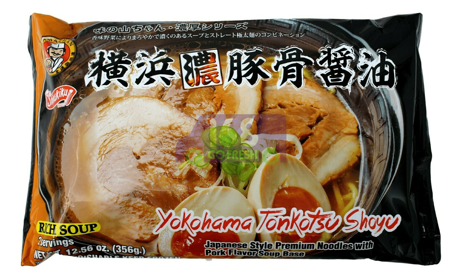JAPANESE STYLE PREMIUM NOODLES WITH PORK FLAVOR SOUP BASE 日本 横滨浓豚骨酱油面(12.56OZ)