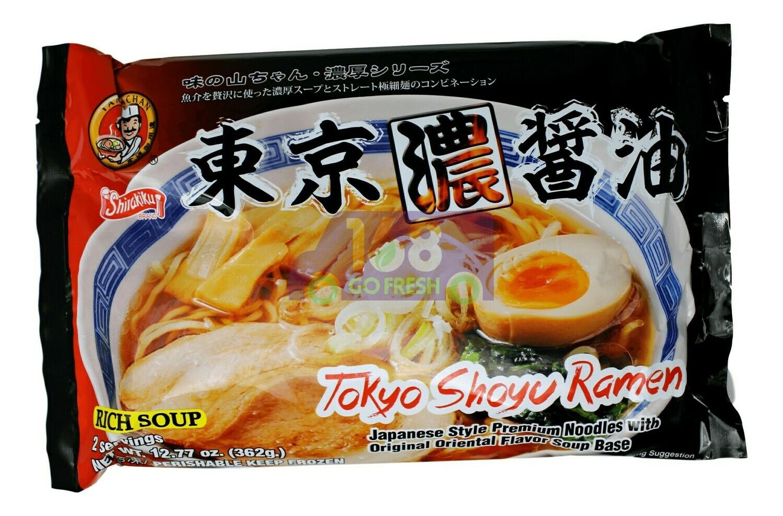 JAPANESE STYLE PREMIUM NOODLES WITH ORIGINAL ORIENTALFLAVOR SOUP BASE 日本 东京浓酱油面(12.56OZ)