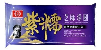 LAURELˇS - SESAME BLACK GULTINOUS RICE BALL 桂冠紫糯米芝麻汤圆(200G)