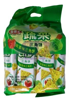 GOLDEN FUJI - VEGETABLE FLAVOR CRACKER 金富士 蔬菜三角饼(350G)
