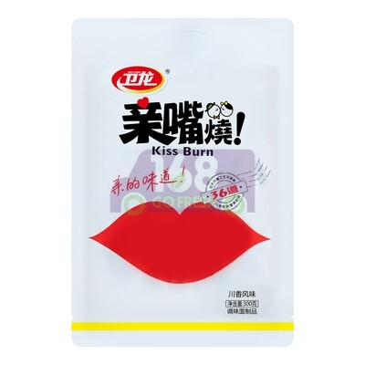 卫龙 亲嘴烧 调味面制品 川香/红烧牛肉/麦辣鸡汁风味 300g