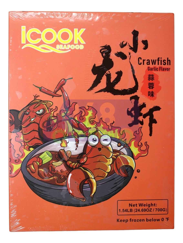 ICOOK SEAFOOD CRAWFISH-GARLIC FLAVOR Icook 蒜蓉味小龙虾(1.54LB)