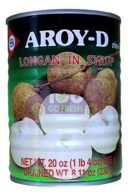 AROY-D  LONGAN IN SYRUP AROY-D 糖水龙眼罐头(20OZ)