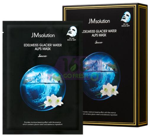 【ON SALE 热卖促销】JM SOLUTION EDELWEISS GLACIER WATER ALPS MASK 韩国JM雪绒花冰川水长效保湿面膜10片装 (原价$21.19)-白色雪绒花