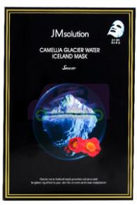 【ON SALE 热卖促销】JM SOLUTION CAMELLIA GLACIER WATER ICELAND MASK 韩国JM山茶花冰川水提亮保湿面膜10片装 (原价$21.19)-红色山茶花