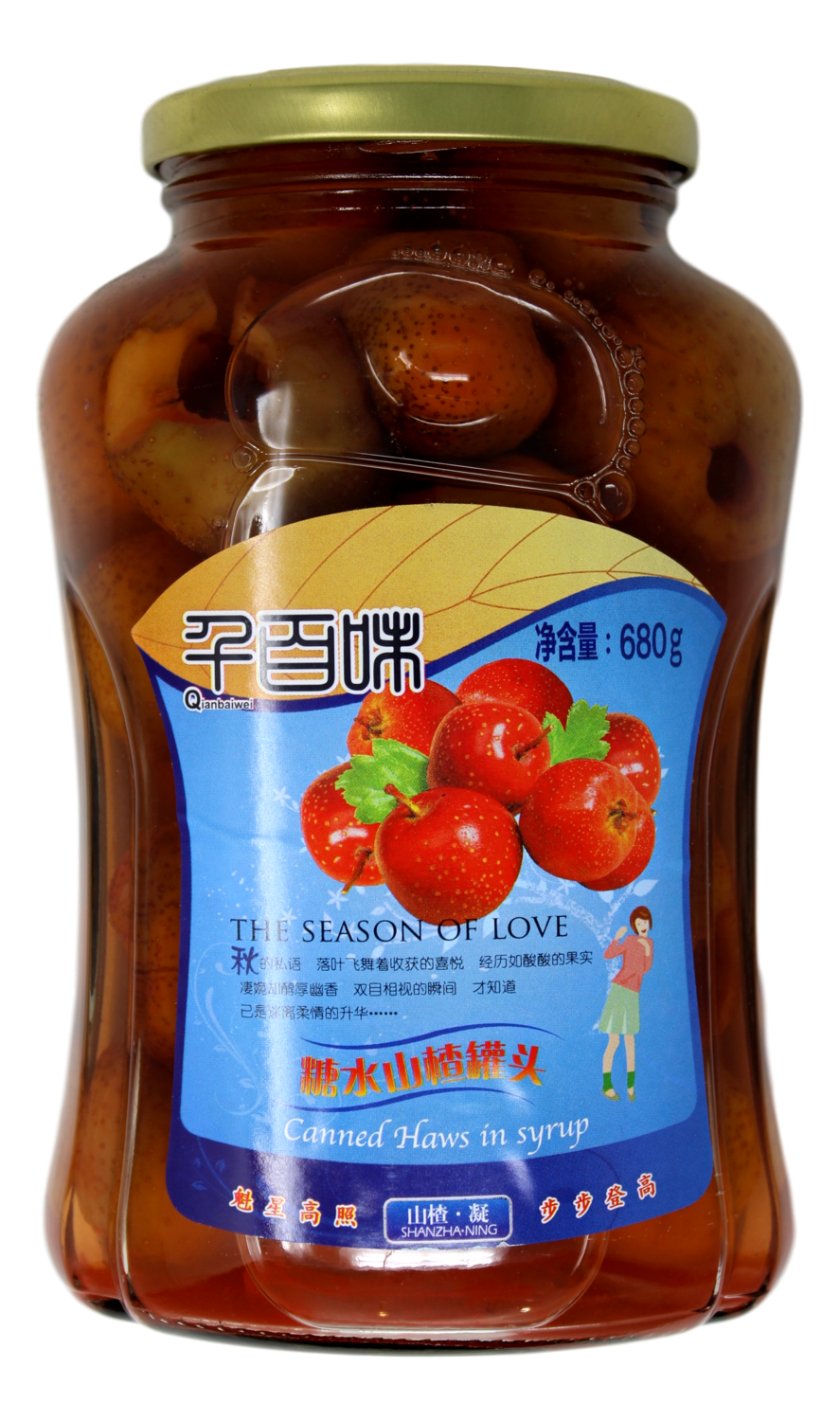 CANNED HAWS IN SYRUP 千百味糖水山楂罐头(680g)