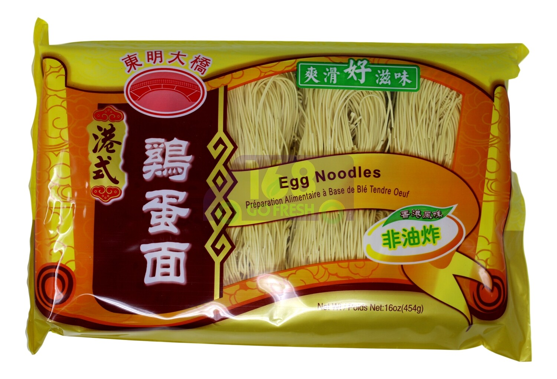HONG KONG STYLE EGG NOODLES 东明大桥 港式鸡蛋面(454G)