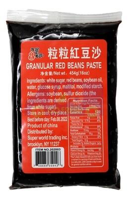 GRANULAR RED BEANS PASTE 天富名品 红豆沙(454G)