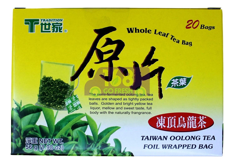 TRADITON OOLONG WHOLE LEAF TEA BAG T世家 原片茶叶 冻顶乌龙茶(20茶包)