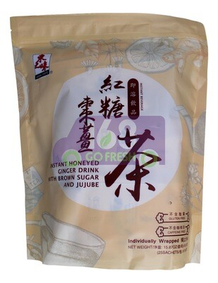 ASIAN INSTANT HONEY GINGER DRINK WITH BROWN SUGAR AND JUJUBE 东之味 红糖姜枣茶(15.87OZ)