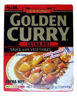 S&B GOLDEN CURRY SAUCE (EXTRA HOT) 日本S&B咖喱酱(含蔬菜) 特辣(红黑)(8.1OZ)