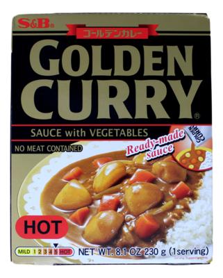 S&B GOLDEN CURRY SAUCE ( HOT) 日本S&B咖喱酱(含蔬菜)  辣(黑金)(8.1OZ)