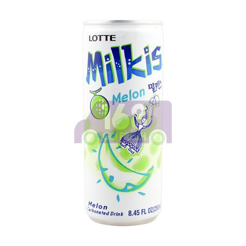 LOTTE MILKIS MILK AND YOGURT DRINK- MELON(6 CANS) 韩国 乐天蜜瓜味乳酸奶(6瓶装)(8.45OZ)