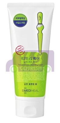 MEDIHEAL Tea Tree Care Cleansing Foam  韩国美迪惠尔茶树泡沫洁面乳170ml-深层清洁黑头 抗痘控油
