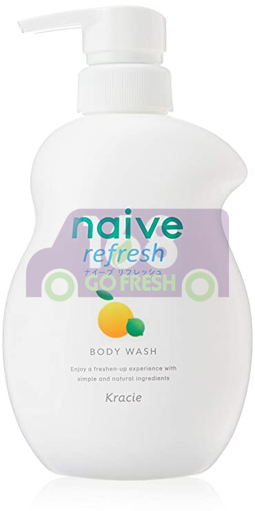 KRACIE NAIVE BODY SOAP -LEMON 日本KRACIE嘉娜宝 NAIVE 氨基酸纯植物性润泽沐浴乳-柠檬 530ml