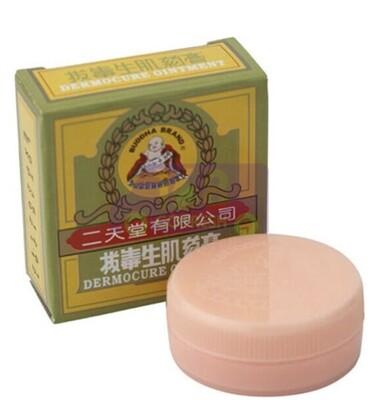BUDDHA DEARMOCURE OINTMENT 8G香港二天堂拔毒生肌药膏-擦割损伤/皮肤痕痒/烂脚烂肉