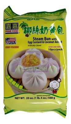PRIME FOOD -STEAM BUN W/ EGG CUSTARD & COCONUT ADDED 嘉嘉 椰丝奶黄包(20OZ)