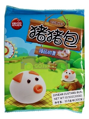 ANIMAL STYLE BEAR BUN(CUSTARD) 思念 中华面点 猪猪包 奶黄包(10个)