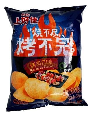 OISHI PATATO CHIPS-BARBECUE FLA 上好佳 田园薯片 烤肉口味(80G)