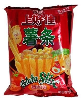 OISHI PATATO CHIPS-Tomato FLA 上好佳 田园薯条 番茄口味(90G)