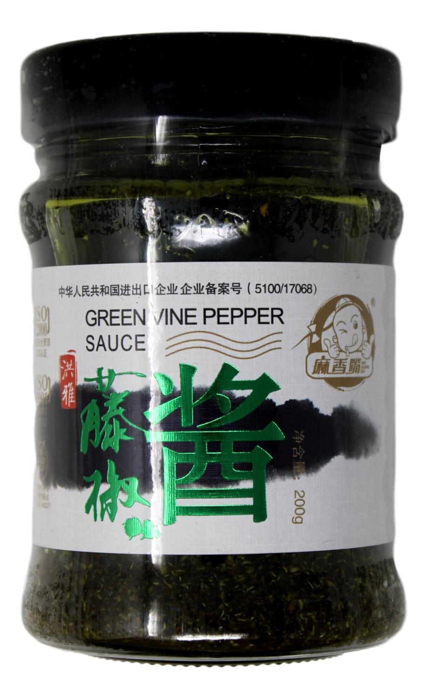 GREEN SUCHUAN PEPPER SAUCE 麻香嘴 藤椒酱(200G)