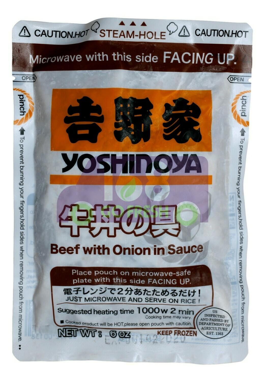 YOSHINOYA BEEF WITH ONION IN SAUCE 吉野家 牛丼(6OZ)