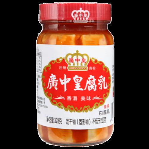 FERMENTD SPICY BEAN CURD 广中皇 白腐乳 微辣(328G)