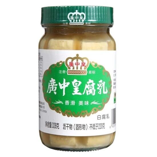 FERMENTD  BEAN CURD 广中皇 白腐乳 (328G)