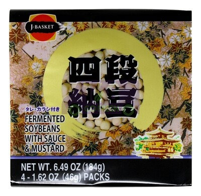 J-BASKET FERMENTED SOYBEANS WITH SAUCE & MUSTARD J-BASKET 四段纳豆(6.49OZ)011152015156