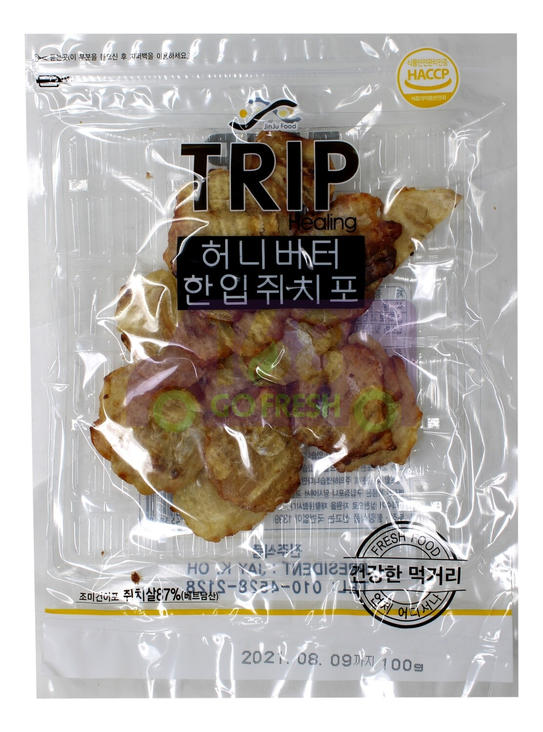 KOREAN JINJUFOOD TRIP HEALING PREMIUM SHREDDED GRILLED FISH 韩国 老爷爷特级烤鱼片(200G) 8809001453868