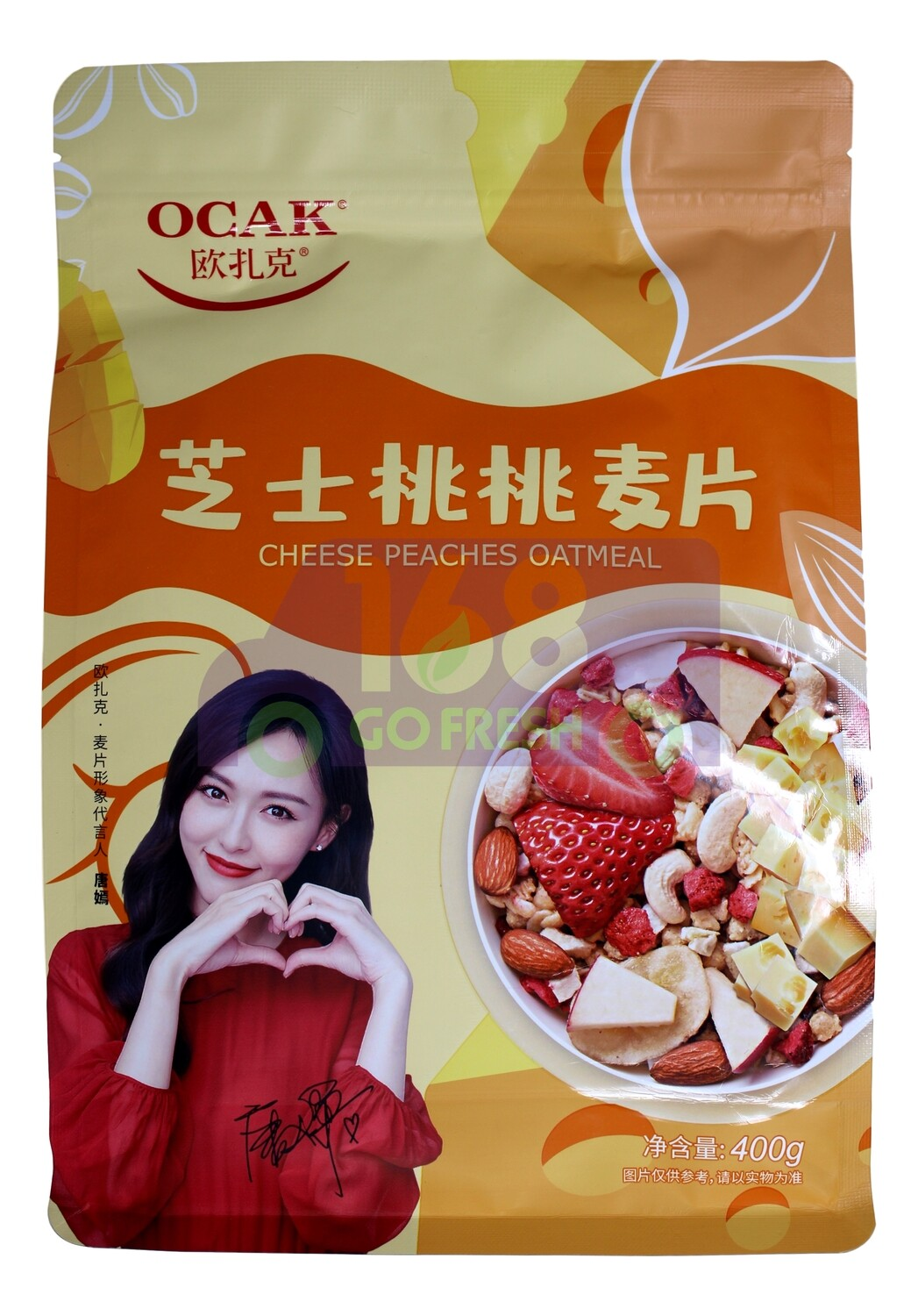 OCAK CHEESE PEACHES OATMEAL 欧扎克 芝士桃桃麦片(400G)