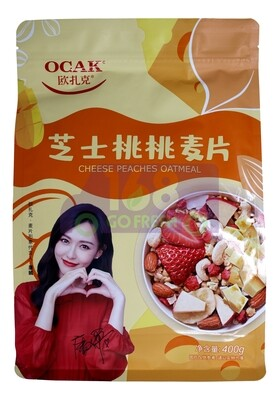 OCAK CHEESE PEACHES OATMEAL 欧扎克 芝士桃桃麦片(400G)