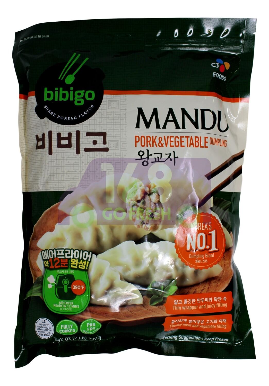 MANDU PORK&VEGETABLE DUMPLING 韩国 CJ 猪肉蔬菜饺子(2LB)