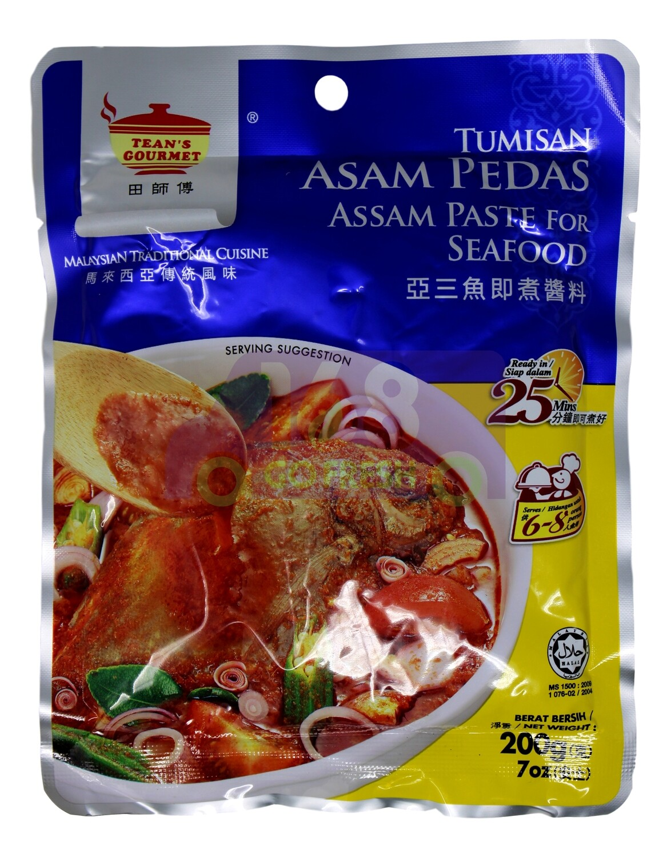 TEAN'S GOURM - PASTE FOR SEAFOOD 田师傅 马来西亚亚三鱼即煮酱料(200G)