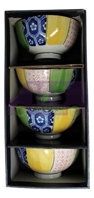 4 PIECES RICE BOWL  Gift Set 礼盒装  彩碗(四个)8712300000513