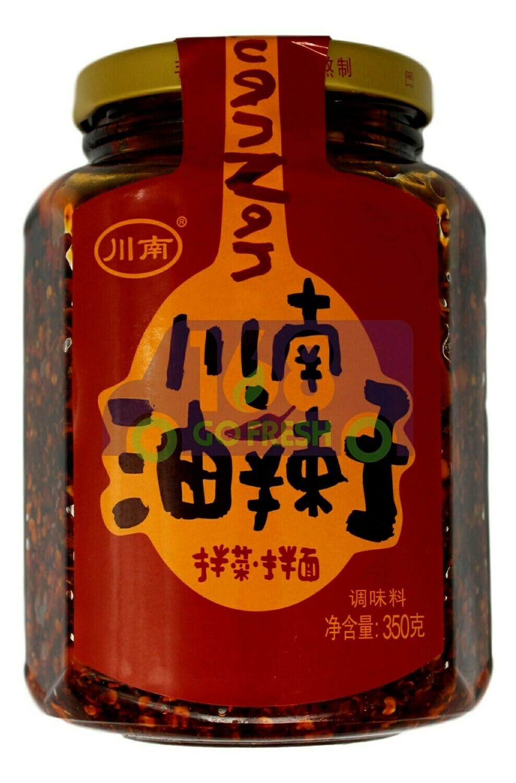 HOT CHILI OIL 川南 地道川味 油辣子 拌菜拌面酱(350G)