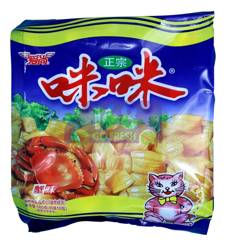 RICE CRACKER WITH CRAB FLAVOR 爱尚 咪咪 蟹味(10小包装)