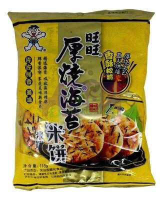 HOT-KID WANT WANT SEAWEED RICE CRACKERS 旺旺厚烧海苔米饼(118g)(4.16OZ)