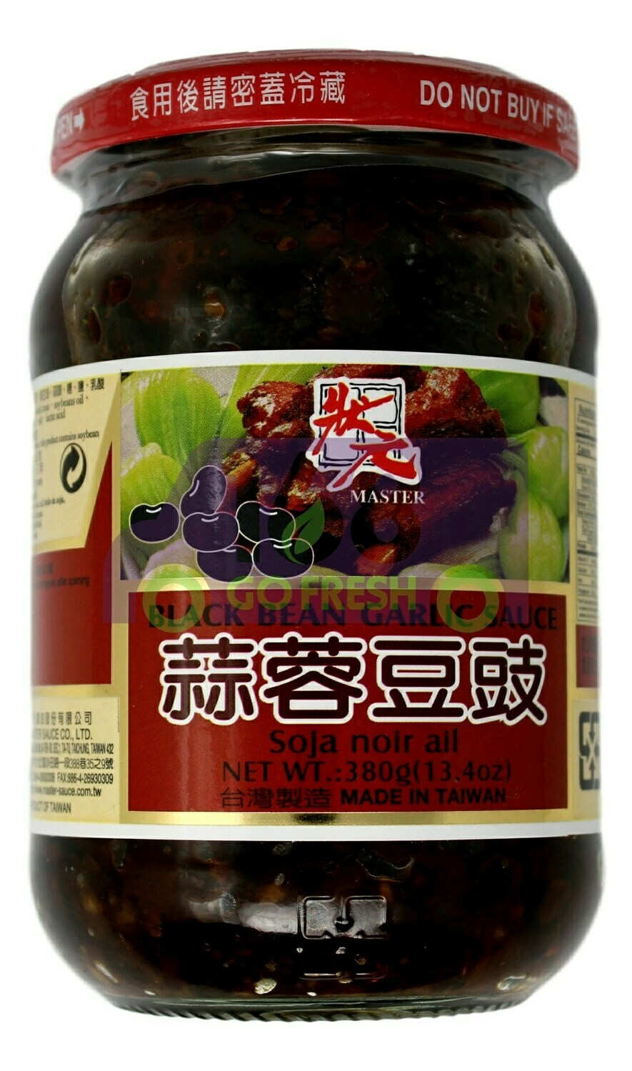 MASTER BLACK BEAN GARLIC SAUCE 状元 蒜蓉豆豉(380G)