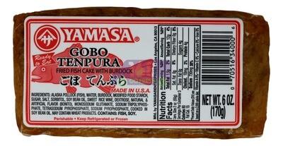 Gobo tempura fish cake Yamasa  Gomoku (牛蒡)鱼饼(红)(6OZ)