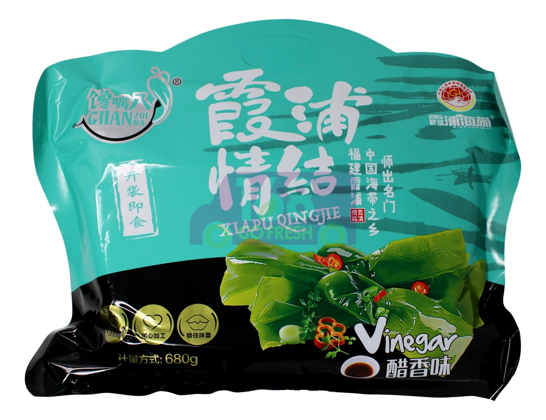 VINEGAR SEAWEED KELP STRIPS 馋嘴八 霞浦情结 醋香味 (即食海带结)(680G)
