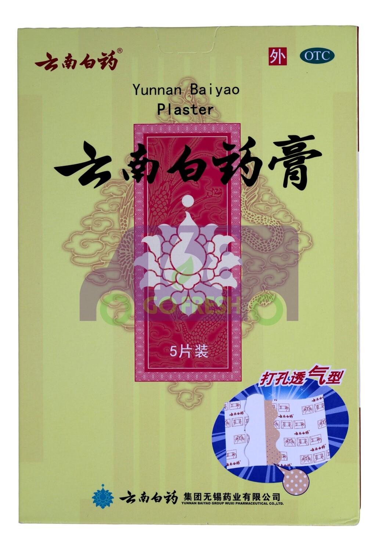 YUNNAN BAIYAO PLASTER 云南白药 药膏 5片入