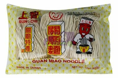 KUAN MIAO SLICED NOODIE  上智 関廟面(400G)