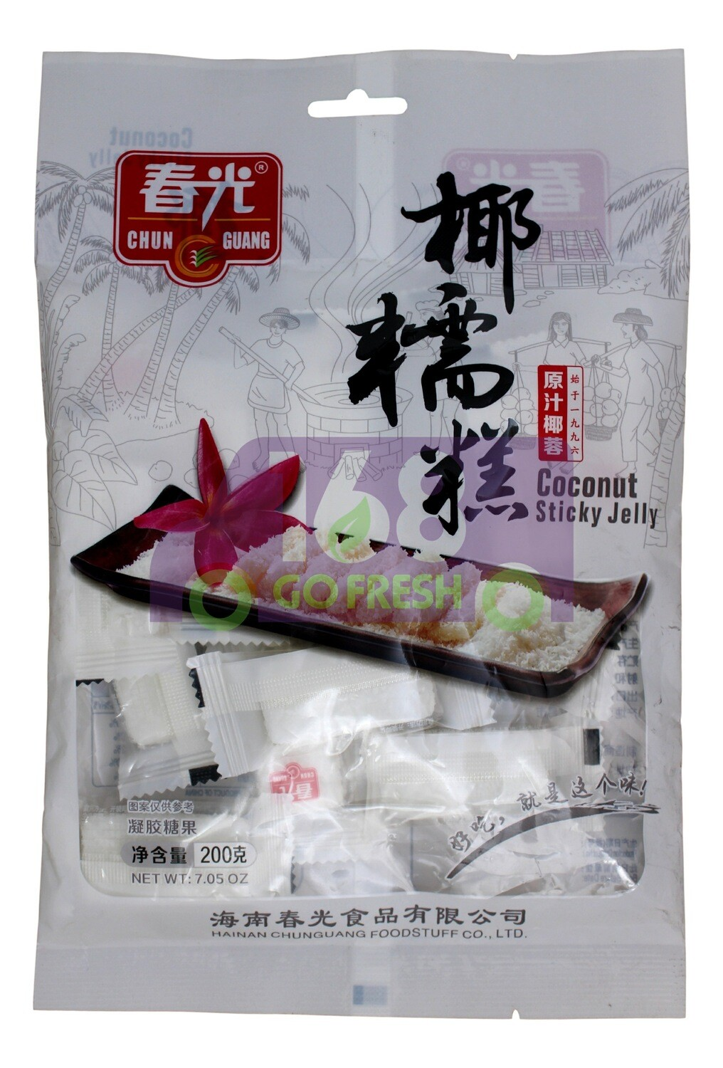 CHUNGUANG COCONUT STICKY SNACK 春光 椰糯糕(200G)