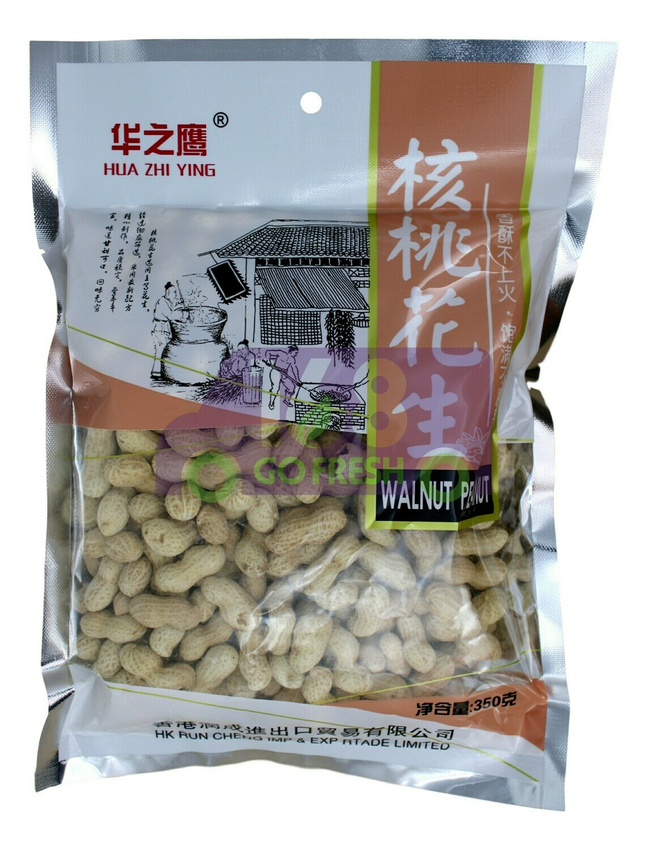 HUAZHIYING WALNUT FLAVOR  PEANUTS 华之鹰 核桃花生(350G)