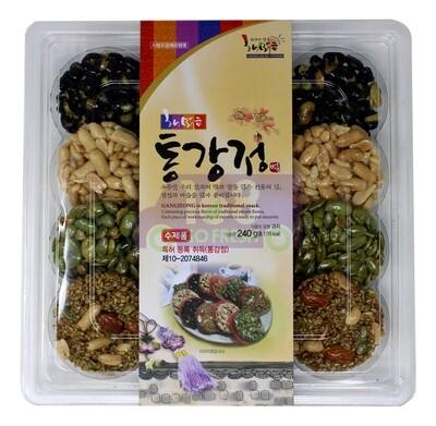 KOREAN GANGJEONG TRADITION SNACK 韩国 传统坚果饼干(黑豆饼,花生酥,葵花籽饼,杏仁葵花籽花生饼)